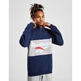 Reebok Vector 1/2 Zip Fleece Sweatshirt, Azul