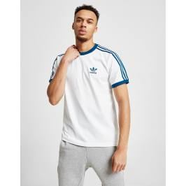 Donde comprar adidas Originals 3-Stripes California Short Sleeve T-Shirt, Blanco
