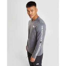 The North Face Text Sleeve Logo T-Shirt - Only at JD, Gris