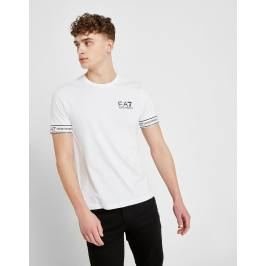 Emporio Armani EA7 Short Sleeve Tape T-Shirt - Only at JD, Blanco