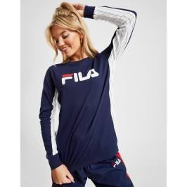 Fila Stripe Panel Long Sleeve T-Shirt - Only at JD, Azul Tops